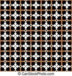 Seamless vintage pattern in black and gold