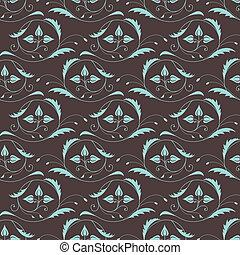 Seamless vintage pattern in blue-br