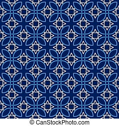 Seamless vintage pattern in tones of blue
