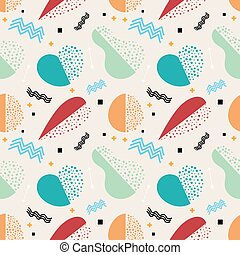 Seamless vintage pattern. Seamless pattern with fruits and vegetables - apples, carrots, pears,