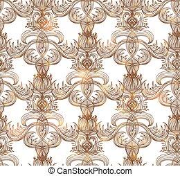 Seamless vintage pattern. Vector illustration, EPS 10