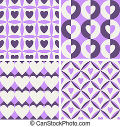 Seamless vintage pattern with hearts