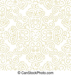 Seamless vintage wallpaper. Abstract gold background.