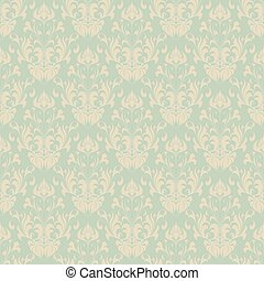 Seamless vintage wallpaper pattern. Abstract floral ornament. Vector illustration.