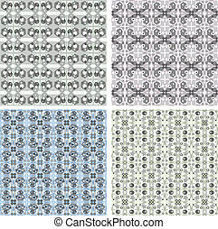 seamless vintage wallpaper pattern, abstract background
