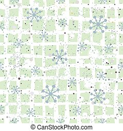 seamless, vinter, bakgrund, snöig