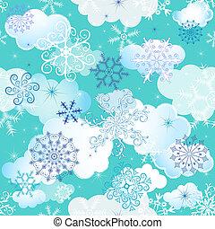 seamless, vinter, mönster