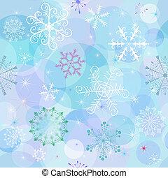 seamless, vinter, tapet
