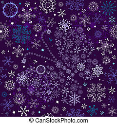 Seamless violet christmas wallpaper with white-blue snowflakes and butterfly (vector)