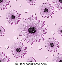 seamless violet pattern with flowers