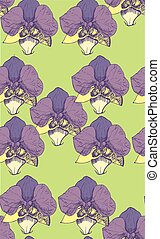 Seamless violets Pattern Background. style sketch.