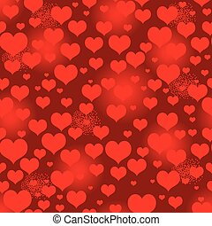 Seamless vivid red valentine pattern with heart