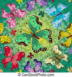 Seamless vivid spring pattern - Seamless vivid green spring...