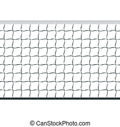 Seamless volleyball net - Seamless vector illustration of a...
