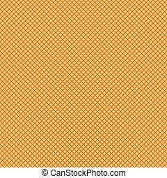 Seamless waffle texture vector pattern.