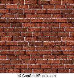seamless, wall., 黑暗, 磚, tileable, texture., 紅色