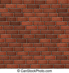 seamless, wall., sötét, tégla, tileable, texture., piros
