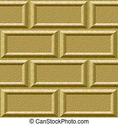 seamless wall with rusticated blocks