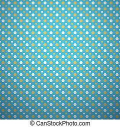 seamless, wallpaper., błękitny, próbka, abstrakcyjny, przekątny, ilustracja, color., tło., wektor, retro, pomarańcza, biała kropka, design.