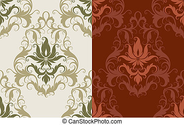 Seamless Wallpaper Background, editable vector illustration