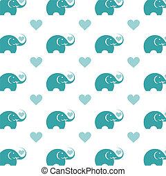 Seamless wallpaper elephant. Vector illustration