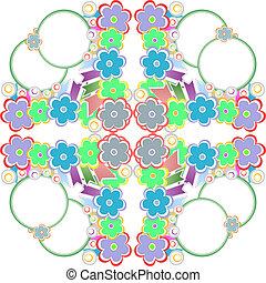 Seamless wallpaper flower pattern