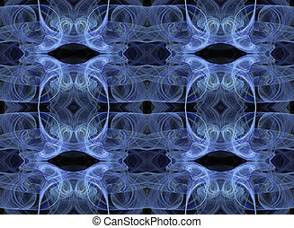 Seamless Wallpaper in Blue and Blac
