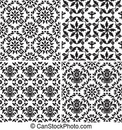 Seamless wallpaper pattern floral