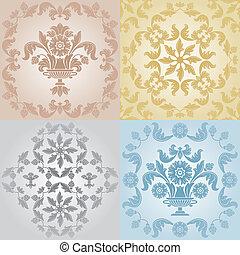 Seamless wallpaper pattern floral,