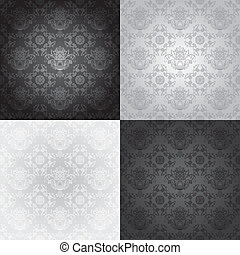 Seamless wallpaper pattern, floral,
