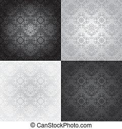Seamless wallpaper pattern, floral,