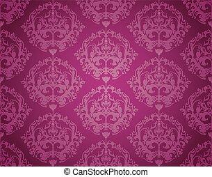 Seamless Wallpaper Pattern (Purple)