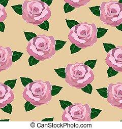 Seamless wallpaper pink roses