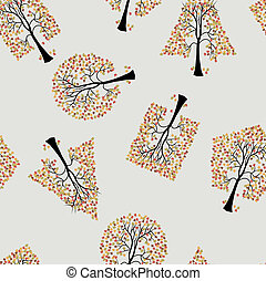 Seamless wallpaper the trees vector background
