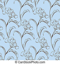 Seamless wallpaper with decorative flowers