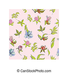 Seamless wallpaper with flowers on