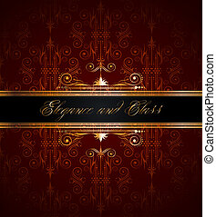 seamless wallpaper with golden decoration - Elegant seamless...