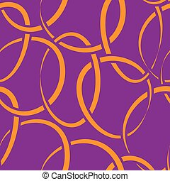 seamless wallpaper with intertwined rings - Vector seamless...