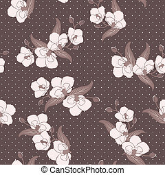 Seamless wallpaper with orchids