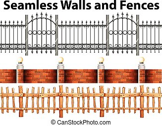 Seamless walls and fences