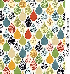 seamless water drops pattern