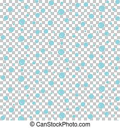 Seamless water pattern with bubbles