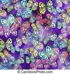 Seamless Watercolor Butterfly Paper