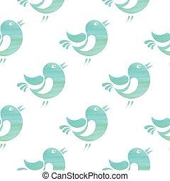 Seamless watercolor pattern - Seamless pattern with stylized...