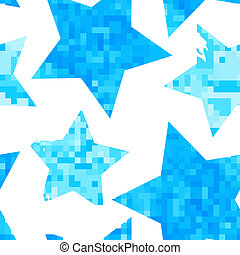 Seamless watercolor stars pattern.