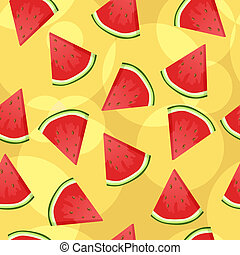 Seamless watermelon background