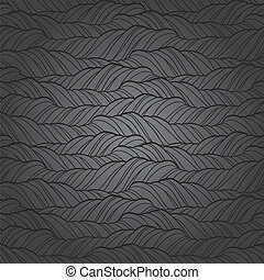 Seamless wave abstract hand drawn pattern.