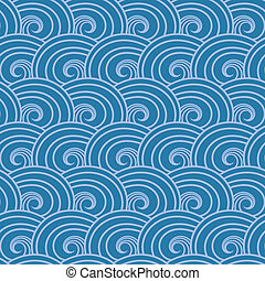 Seamless wave pattern. Abstract sea background.