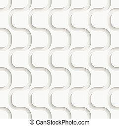 Seamless Wave Pattern. Vector Soft Background. Regular White...