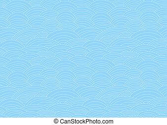 Seamless waves pattern